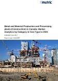 Metal and Material Production and Processing plants (Construction) in Canada: Market Analytics by Category & Cost Type to 2021